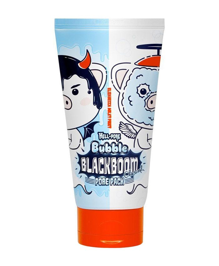 Elizavecca Hell-Pore Bubble Blackboom Pore Pack Кислородная маска для лица