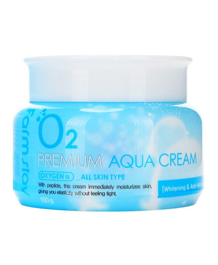 FarmStay O2 Premium Aqua Cream Крем для Всех Типов Кожи