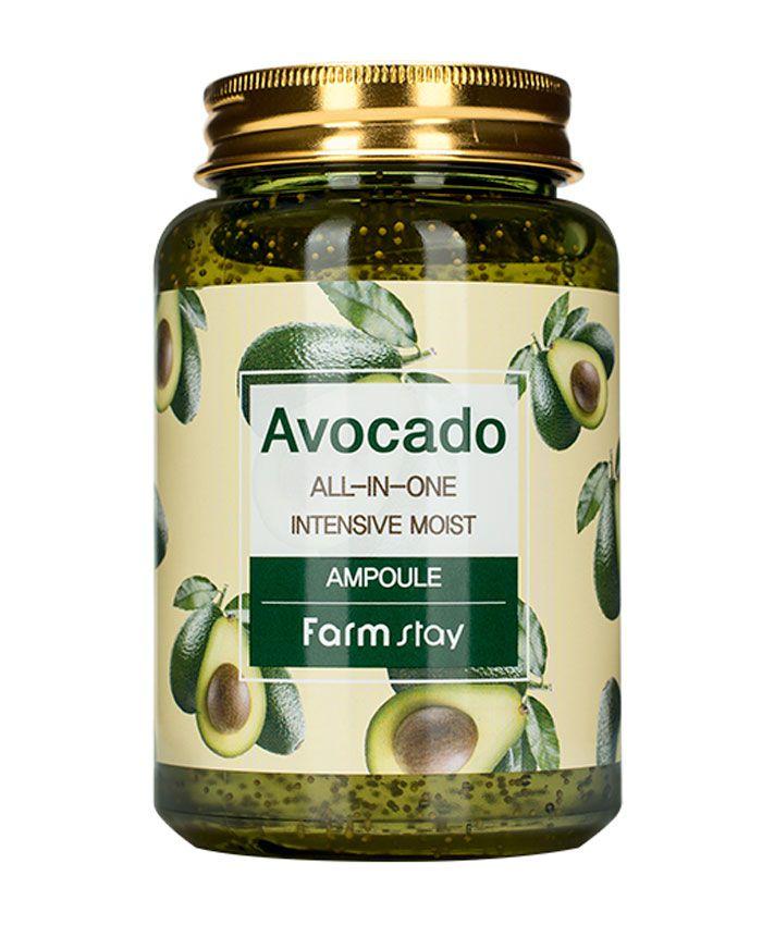 FarmStay Avocado All-In-One Intensive Moist Ampoule Avokado Ekstraktı ilə Çoxfunksiyalı Ampula Serumu
