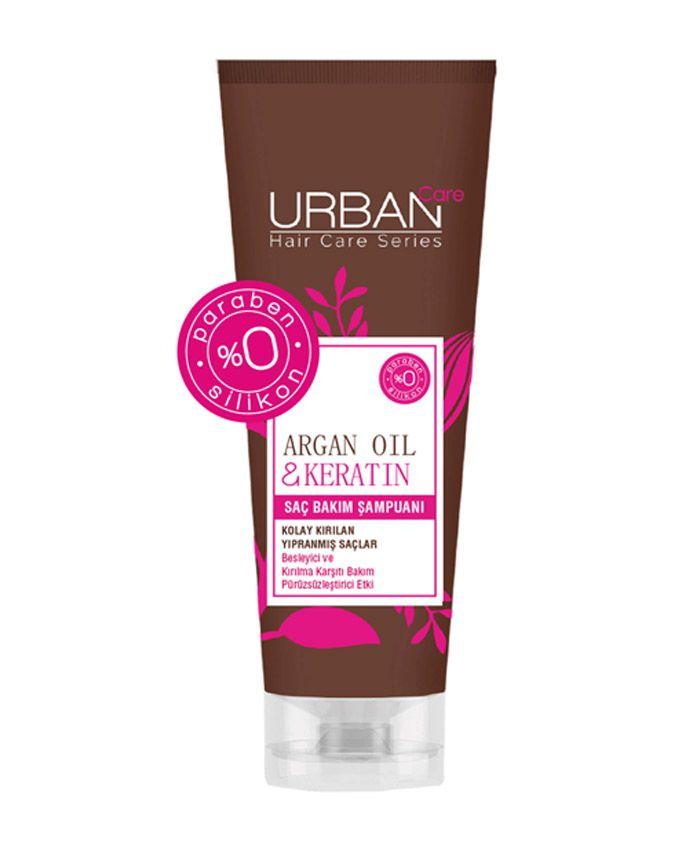 Urban Care Zəif Saçlar üçün Arqan Yağı və Keratin ilə Qidalandırıcı Şampun