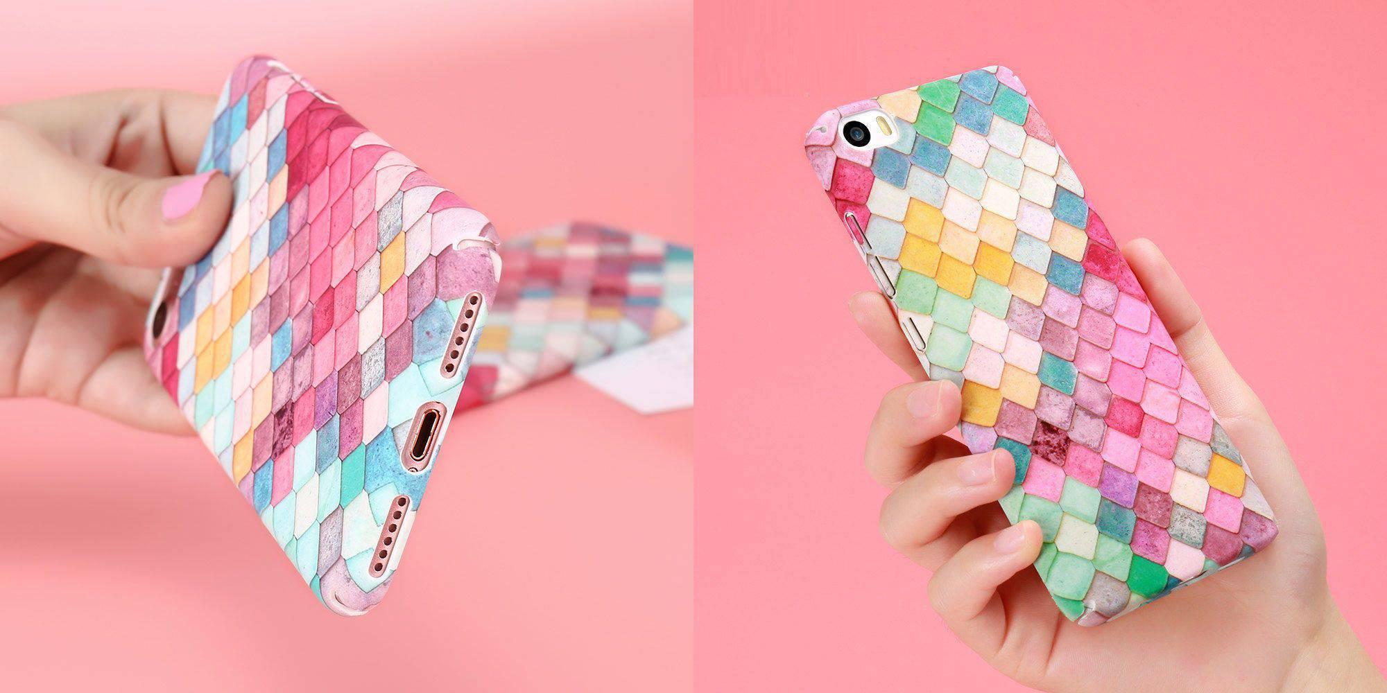 Стильный кейс для девушек KISSCASE с рисунком 3D Чешуя Рыбьей Кожи