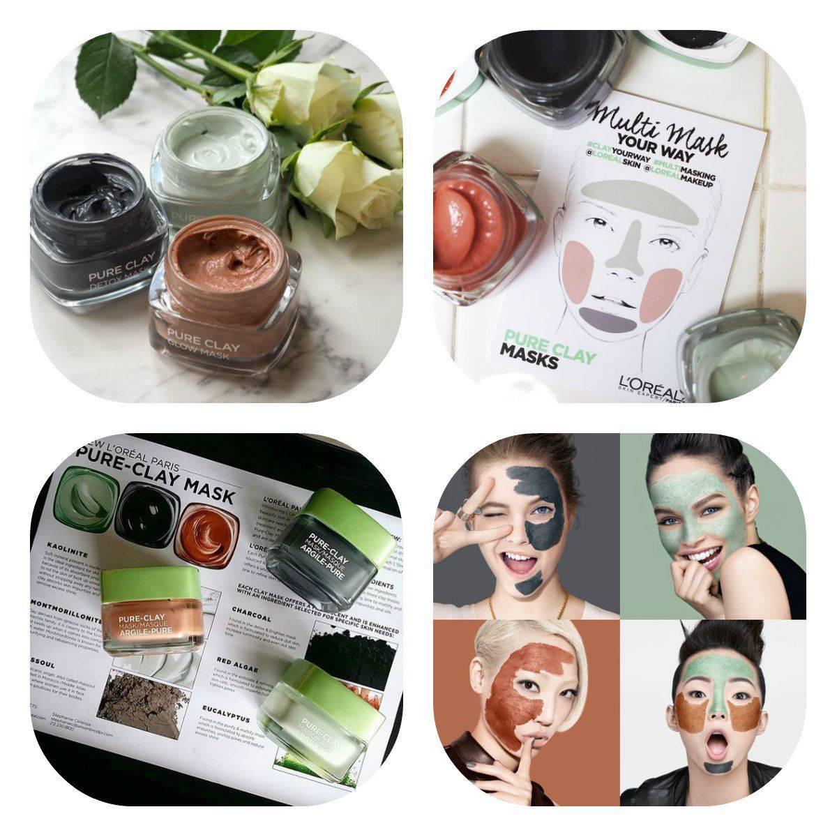 L'Oreal Pure-Clay Detox & Brighten Mask Dəriyə parıltı verən maska