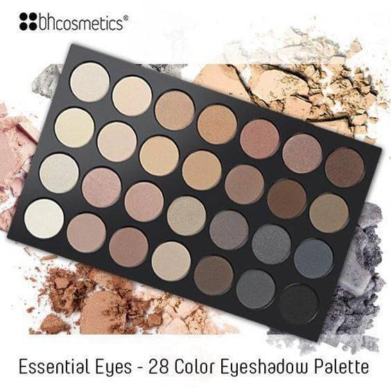 BH cosmeticsdən 28 Color Neutral Eyes Göz kölgəsi dəsti